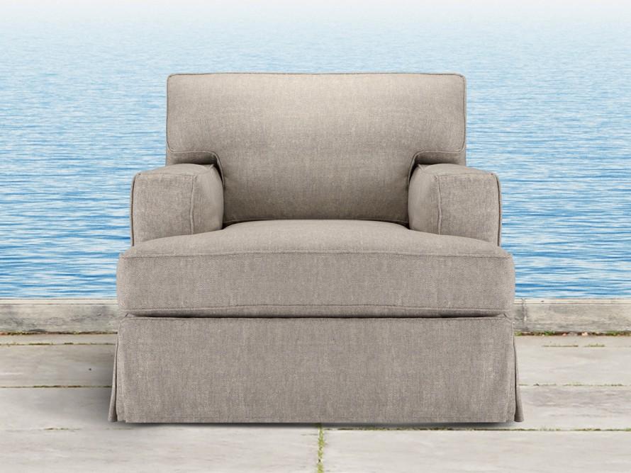 """Dune Outdoor Slipcovered 39"""" Swivel Chair"""