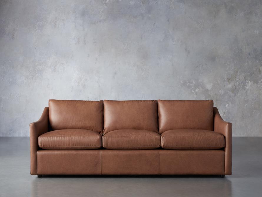 "Branson 84"" Leather Sofa, slide 1 of 8"
