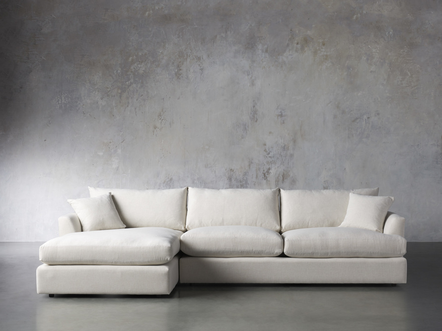 Emory Petite Upholstered Two Piece Sectional, slide 1 of 7