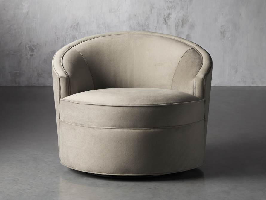 "Harper Upholstered 39"" Swivel Chair, slide 1 of 8"