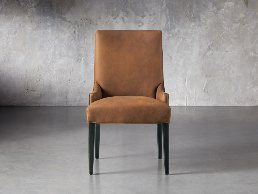 Rhen Leather Dining Side Chair, slide 1 of 8