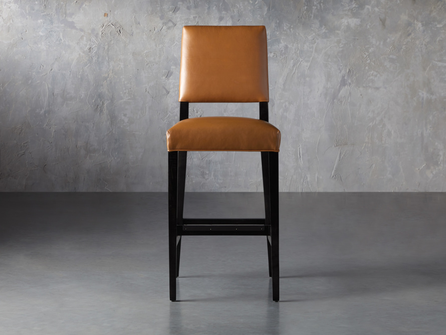 "Teddi Leather 20"" Barstool, slide 1 of 9"