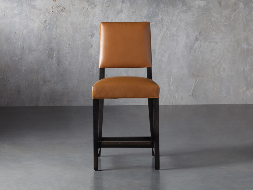 "Teddi Leather 20"" Counter Stool, slide 1 of 9"