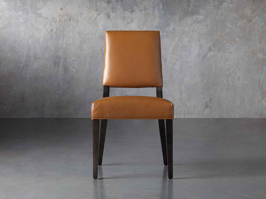 Teddi Leather Dining Chair, slide 1 of 6