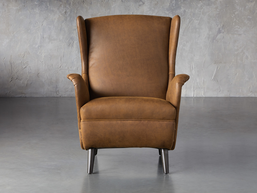 """Wesley Leather 31"""" Chair, slide 1 of 9"""