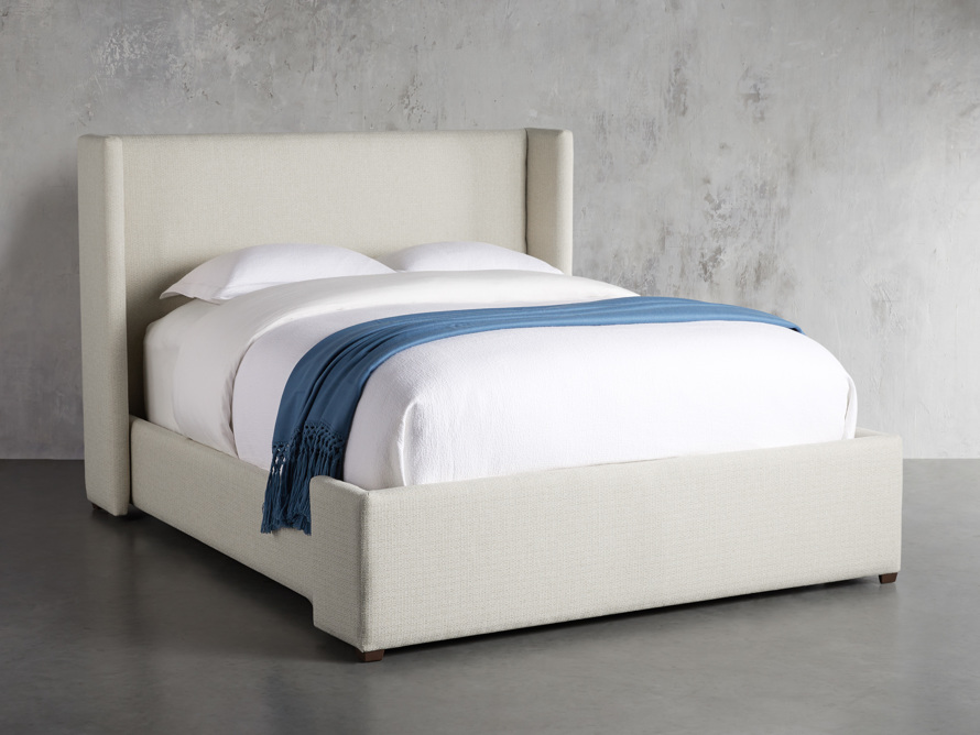 """Wyller Upholstered 52"""" King Bed in Howell Oatmeal, slide 1 of 10"""