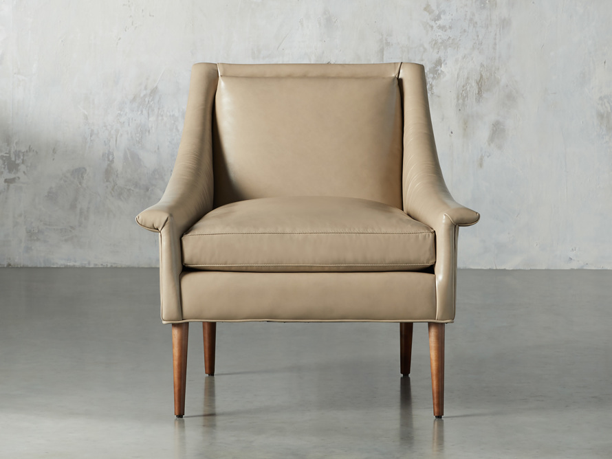 "Zella Leather 32"" Chair, slide 1 of 8"