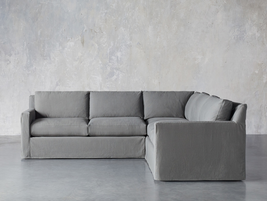 """Monroe Slipcovered 109"""" Three Piece Sectional, slide 1 of 6"""
