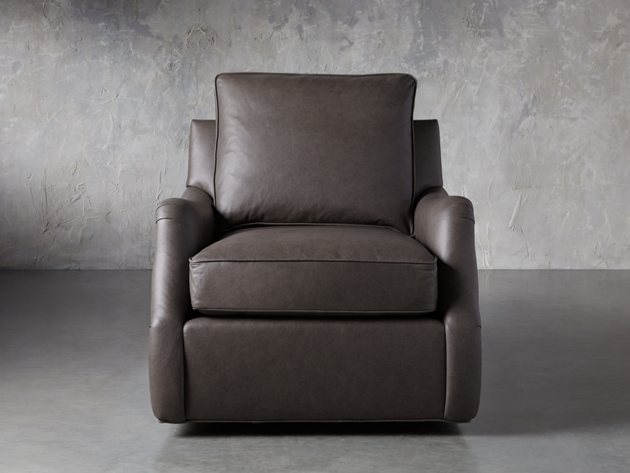 "Paxton Leather 35"" Swivel Chair, slide 1 of 8"