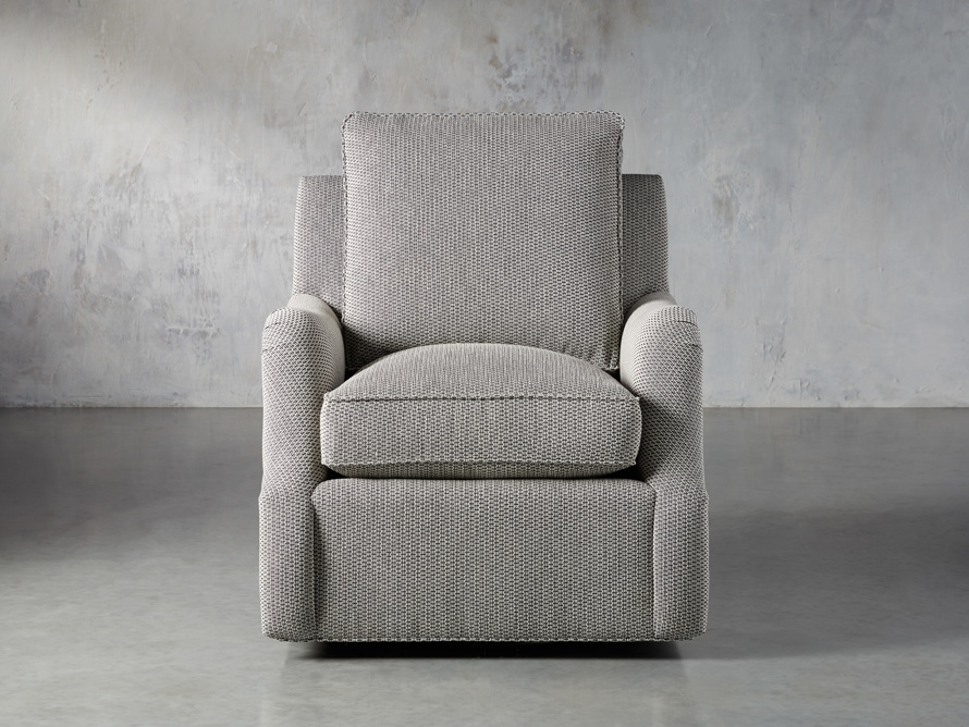 "Paxton Petite Upholstered 32"" Swivel Chair, slide 1 of 8"