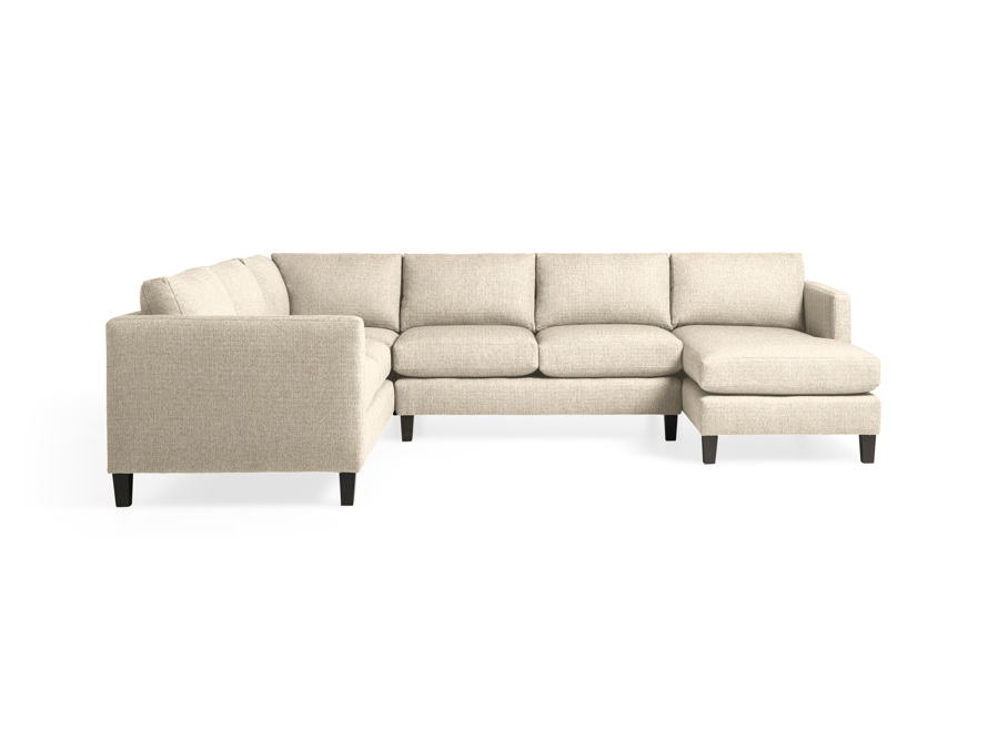 """Taylor 124"""" Upholstered Three Piece Reverse Sectional"""