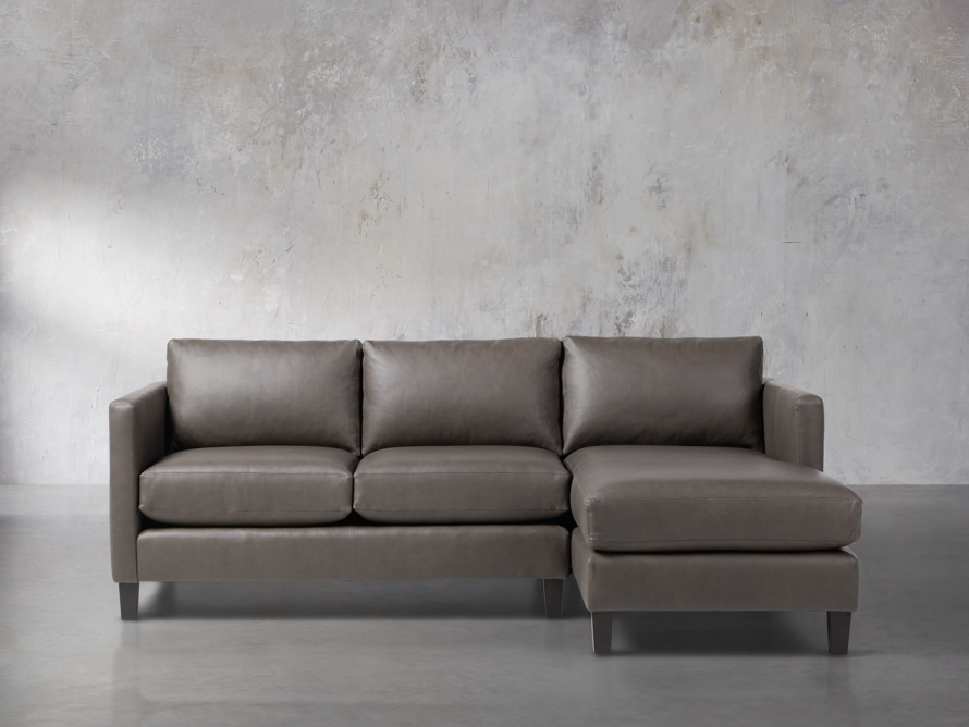 "Taylor 92"" Leather Two Piece Sectional, slide 1 of 5"