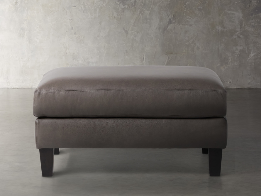 """Taylor Leather 22"""" Ottoman, slide 1 of 4"""