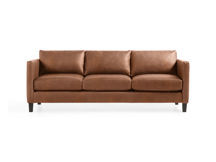 "Taylor 90"" Leather Sofa, slide 1 of 6"