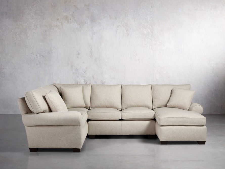 "Brentwood Upholstered 124"" Left Arm Sectional, slide 1 of 6"