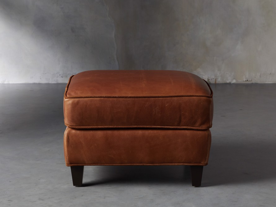 "Cotswold Leather 24"" Ottoman, slide 1 of 9"