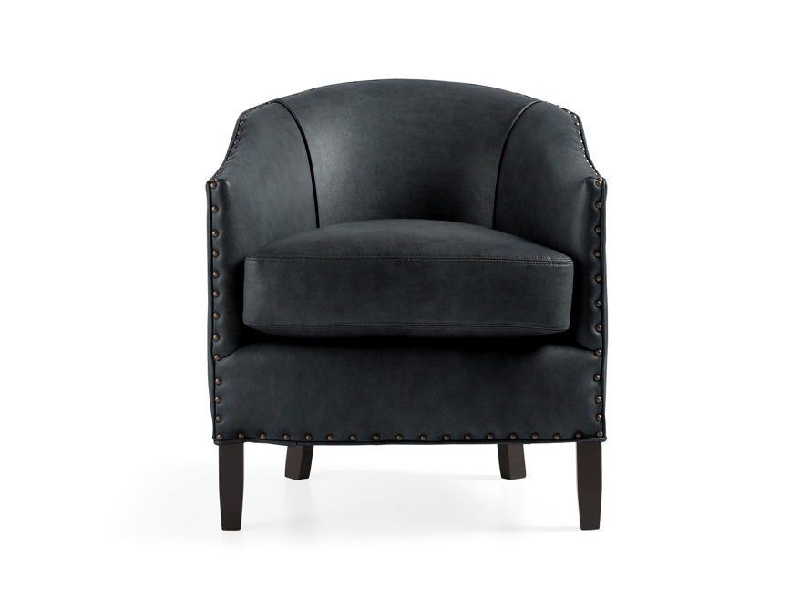 """Giles 28"""" Leather Chair, slide 1 of 8"""
