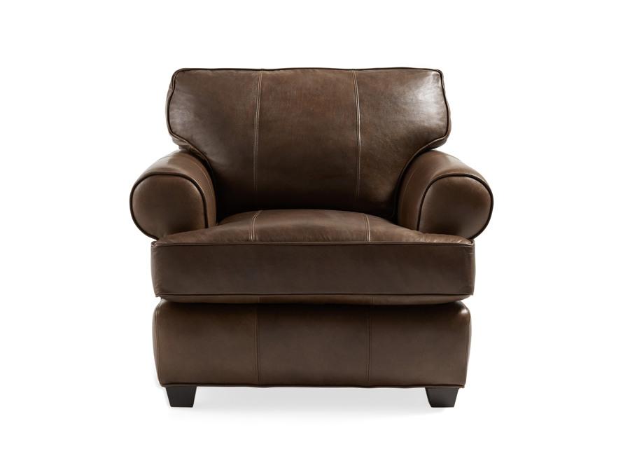 "Hadley 42"" Leather Chair in Anilina Hazelnut, slide 1 of 6"