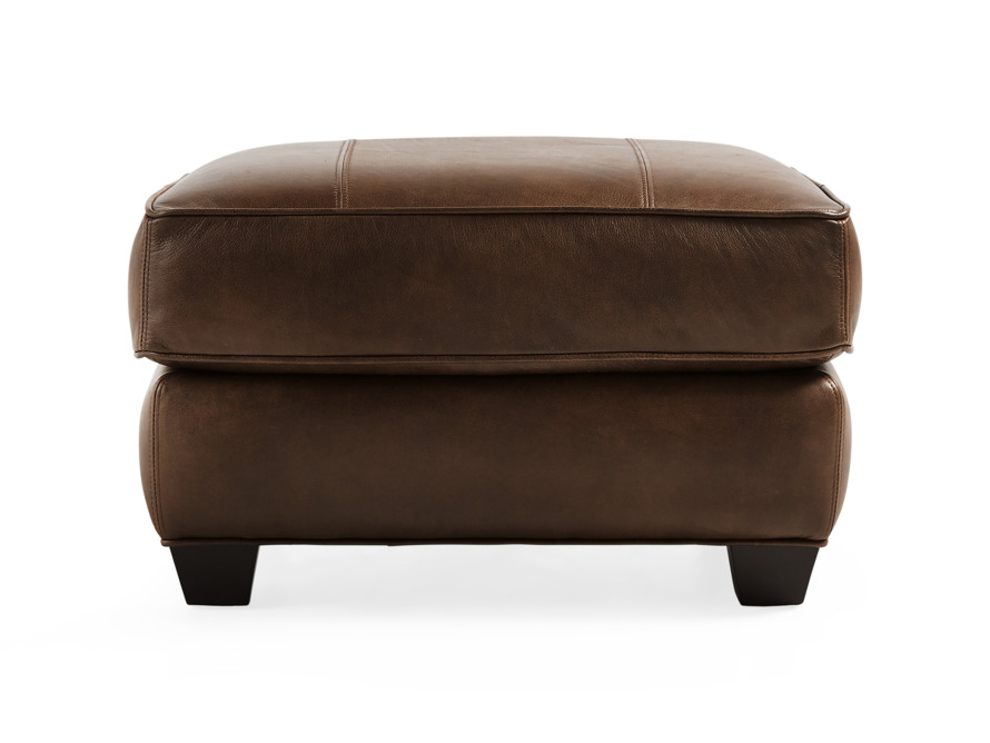 "Hadley Leather 29"" Ottoman in Anilina Hazelnut, slide 1 of 4"