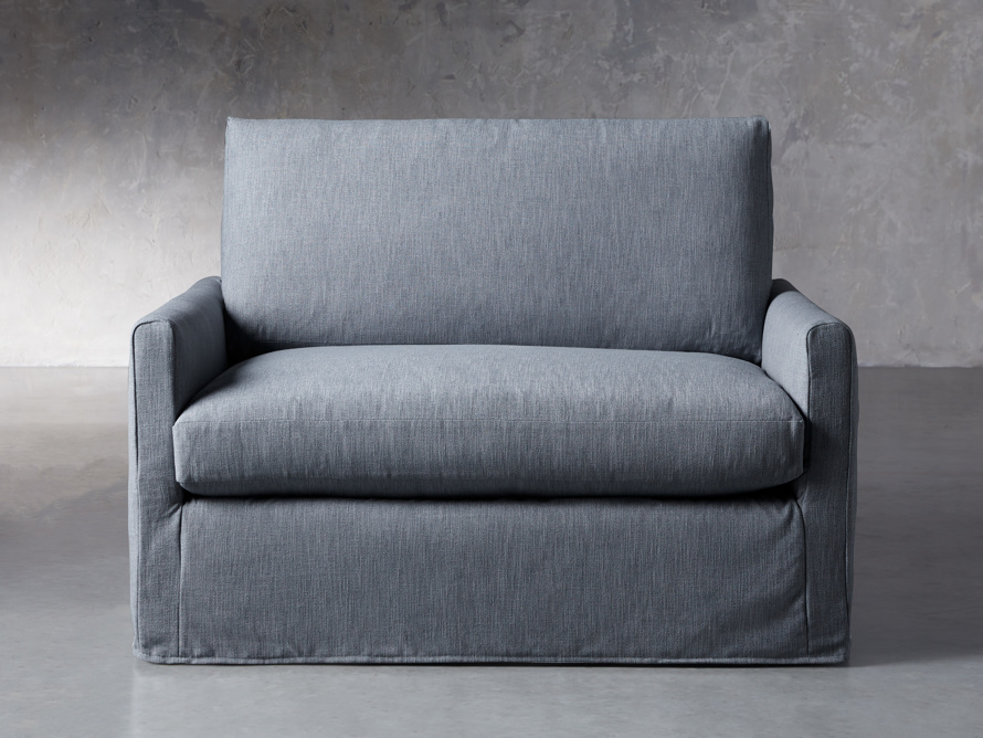 """Kipton Petite Slipcovered 51"""" Chair, slide 1 of 8"""