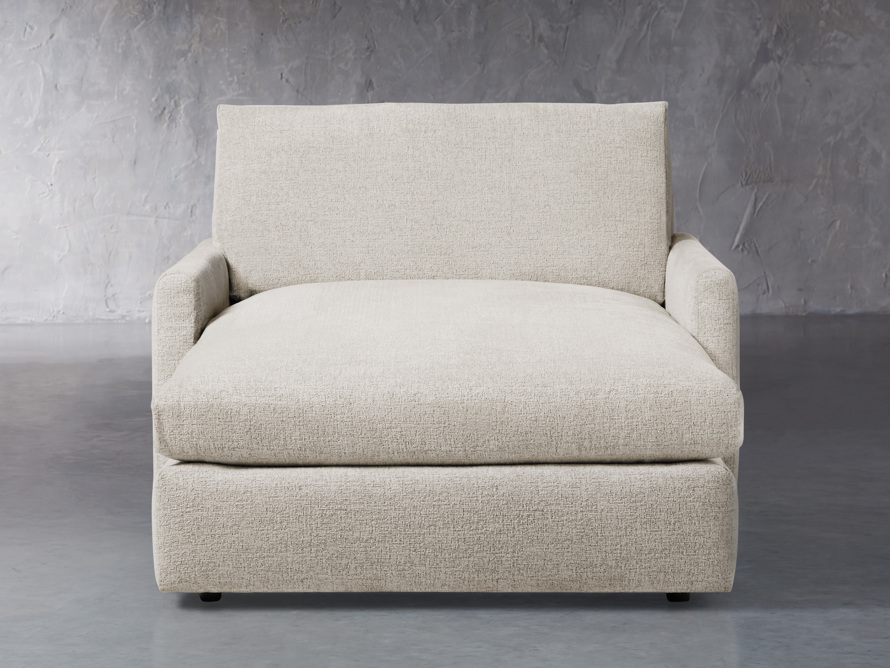 """Kipton Upholstered 51"""" Two Arm Chaise, slide 1 of 8"""