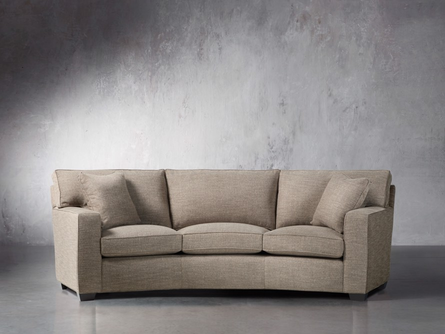 """Brentwood Square 107"""" Upholstered Wedge Sofa"""
