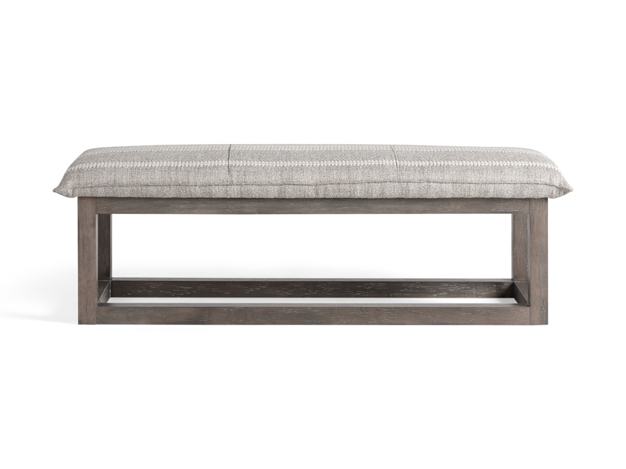 "Ranch Upholstered 56"" Bench, slide 1 of 7"