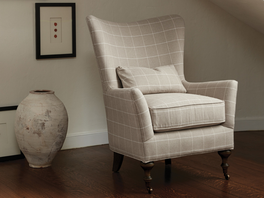 "Rio Upholstered 35"" Chair in Window Linen"