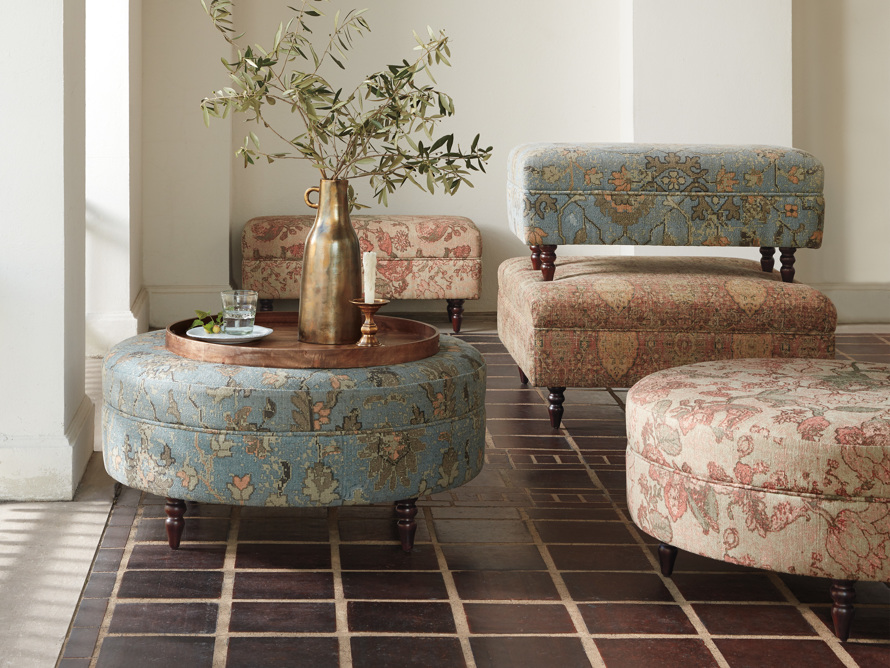 """Adria Upholstered 38"""" Square Ottoman"""