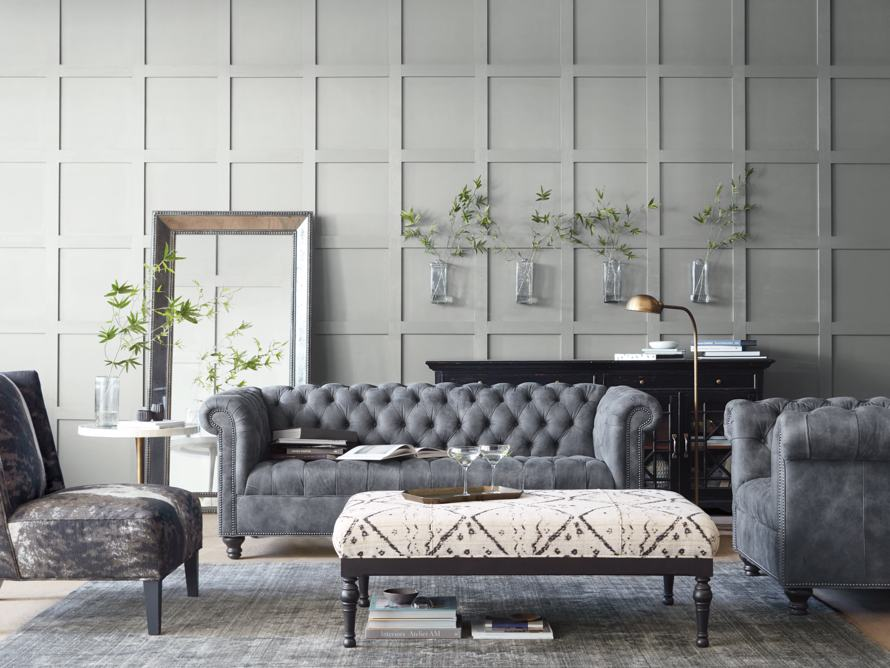 "Berwick 88"" Leather Tufted Sofa"