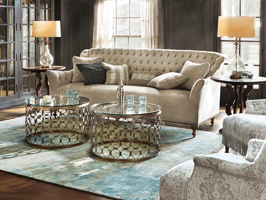 "Fiona 97"" Upholstered Tufted Sofa"