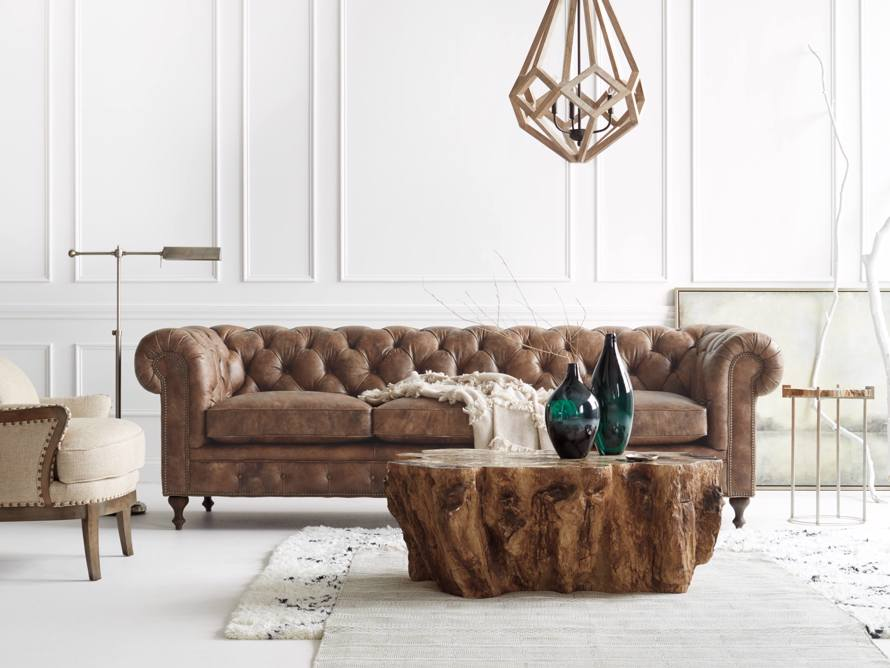"Wessex 109"" Leather Tufted Sofa, slide 9 of 10"