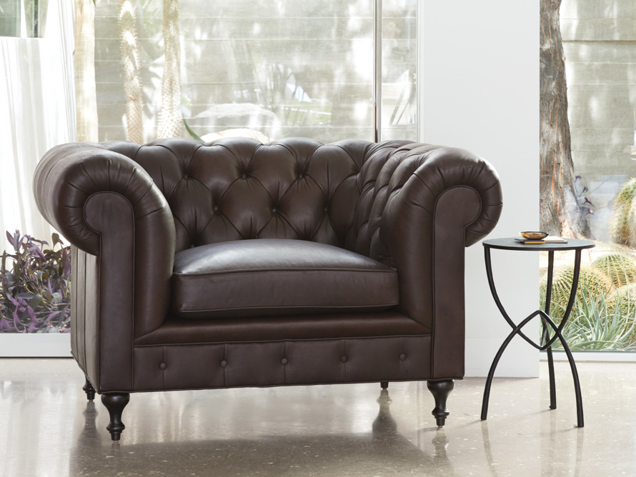 "Wessex Leather 56"" Chair"