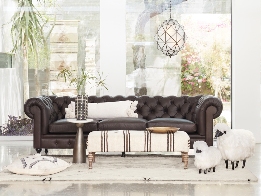 """Wessex Leather 109"""" Sofa"""