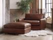 "Kipton Leather 42"" Ottoman"