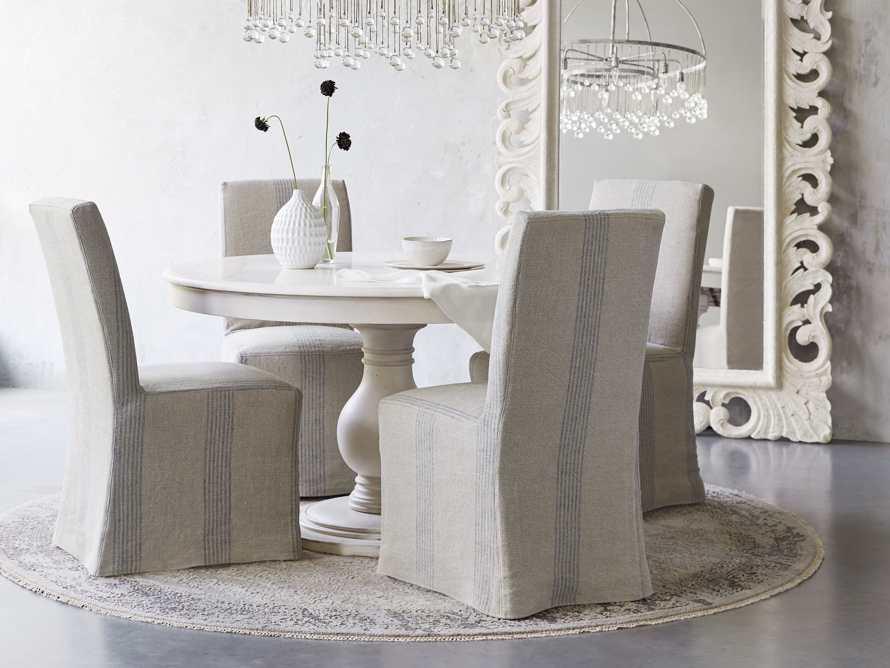 Alma Slipcovered Dining Side Chair, slide 1 of 11