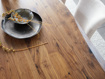 """Ansel 84"""" Dining Table in Brown Walnut"""