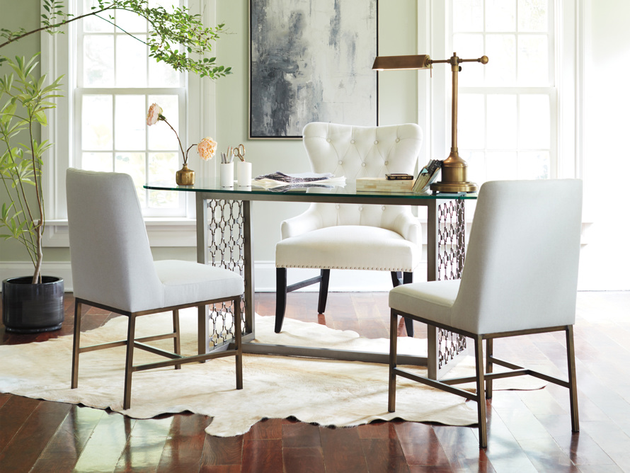 """Claybourne Upholstered 28"""" Dining Arm Chair, slide 9 of 9"""