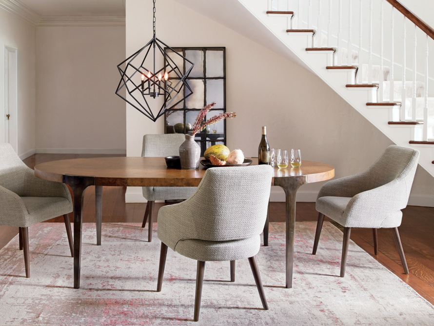 "Cordelia 88"" Oval Dining Table, slide 1 of 10"