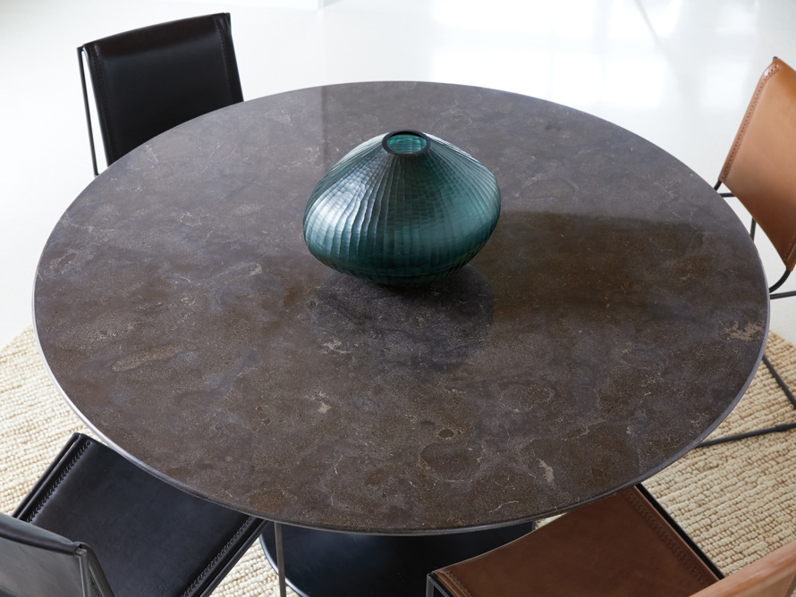 "Enzo 39"" Round Bluestone Dining Table"