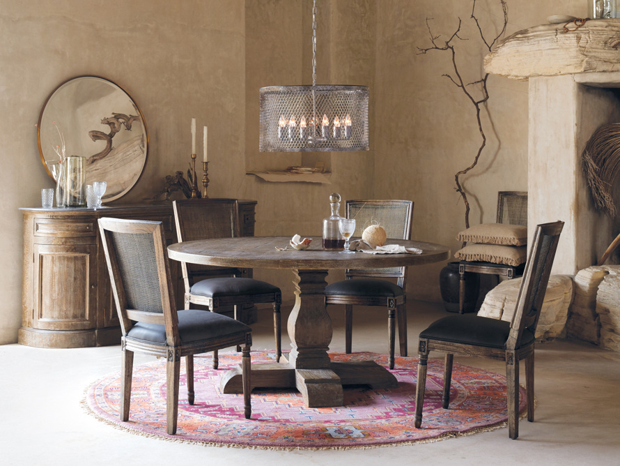 """Kensington 48"""" Round Dining Table in Benedict Brown"""