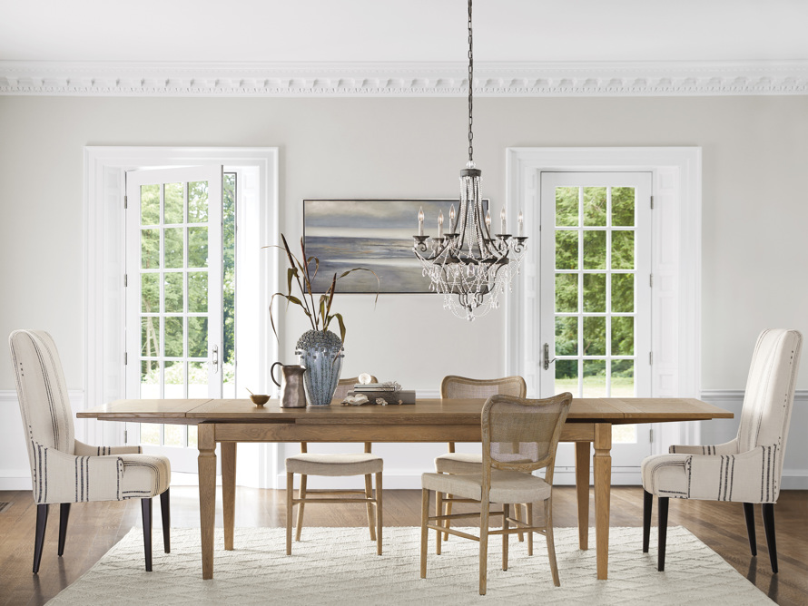 "Luciano 54"" Rectangle Dining Table In Weathered, slide 1 of 10"