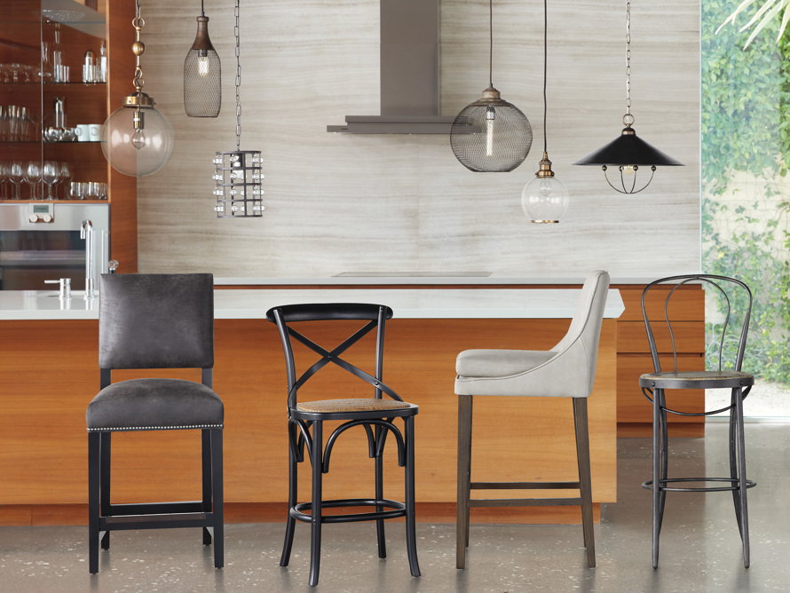 """Lunden Faux Leather 19"""" Barstool"""