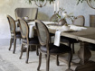 """Margot 23"""" Rattan Back Dining Side Chair in Cinder"""
