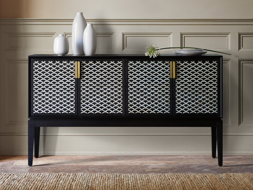 Raja Bar Cabinet in Panther Black