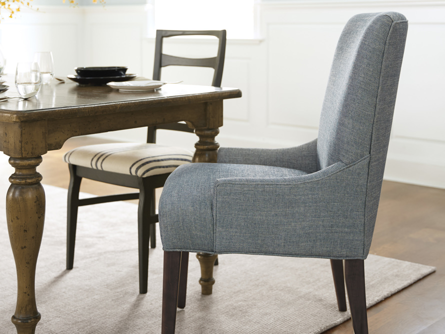 Rhen Upholstered Dining Side Chair, slide 1 of 9