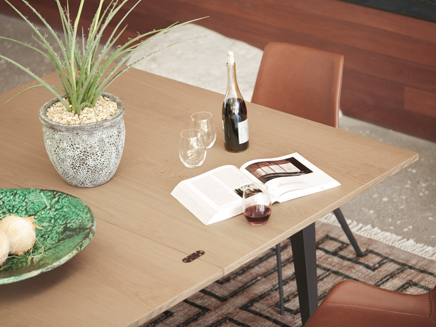 "Rho 60"" Flip-Top Dining Table, slide 13 of 13"
