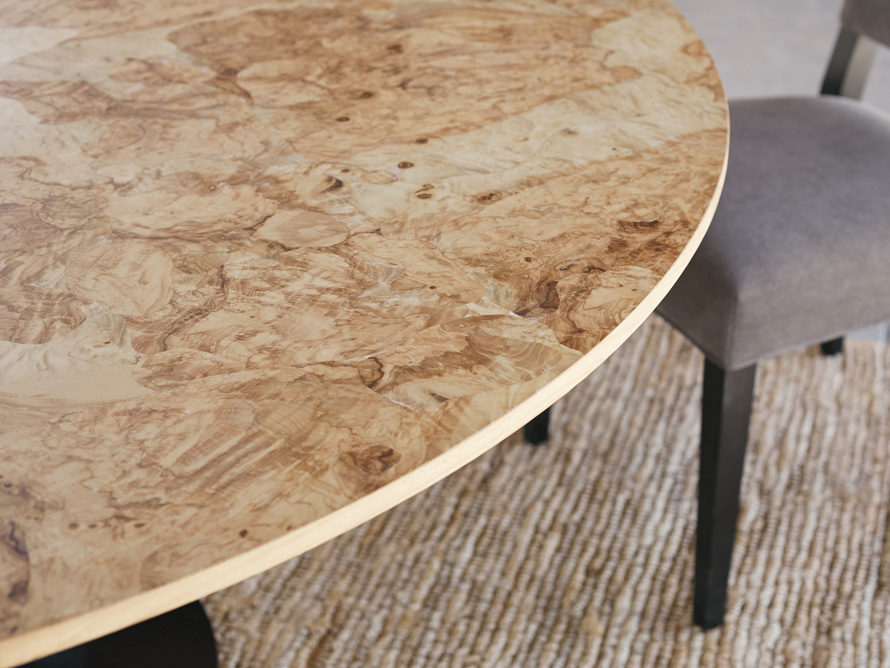 "Sicily Burl 60"" Dining Table"