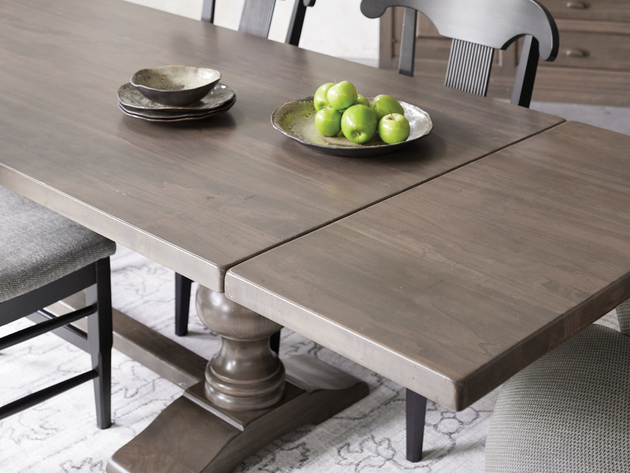"Tuscany 118"" x 44"" Extension Dining Table in Porfido, slide 13 of 17"