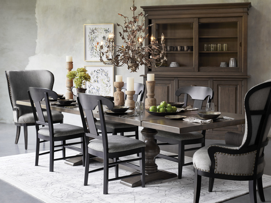 """Tuscany 94"""" x 44"""" Extension Dining Table in Porfido, slide 10 of 15"""